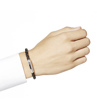 ERMENEGILDO ZEGNA: Bracelet Noir - 51120907CI