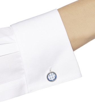 ERMENEGILDO ZEGNA: Cufflinks Blue - 51120910ND