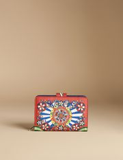 WALLET IN PRINTED DAUPHINE LEATHER WITH ZIP - Wallets - Dolce&Gabbana - Summer 2016