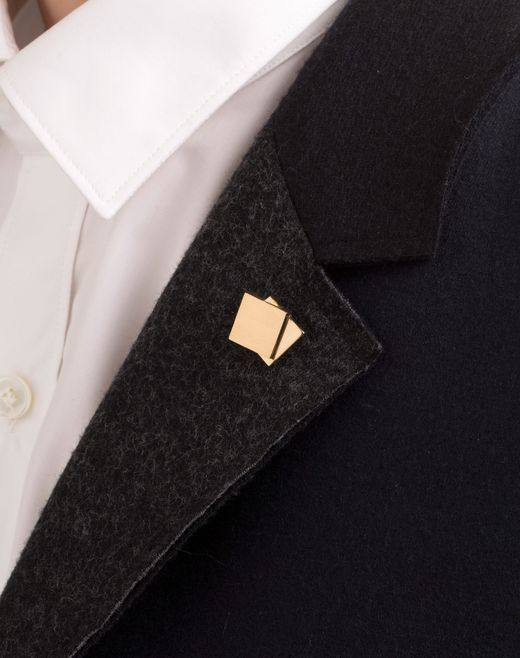 lanvin pin in gold metal men
