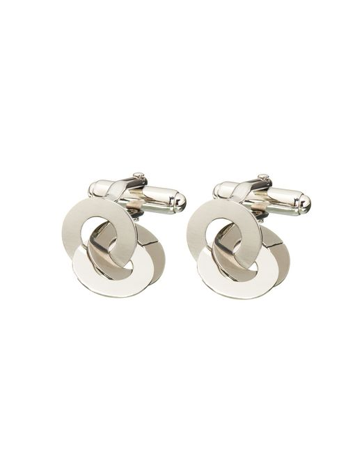 lanvin chain cuff links in rhodium metal men