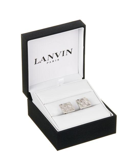 lanvin scale cuff links in rhodium metal men