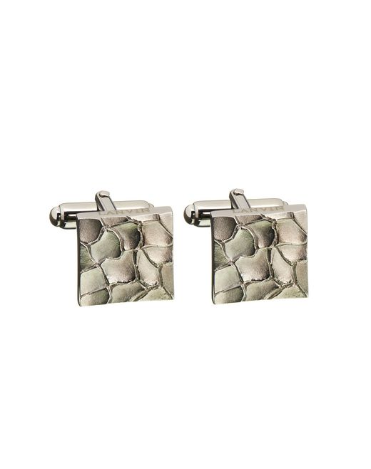lanvin scale cuff links in ruthenium metal men
