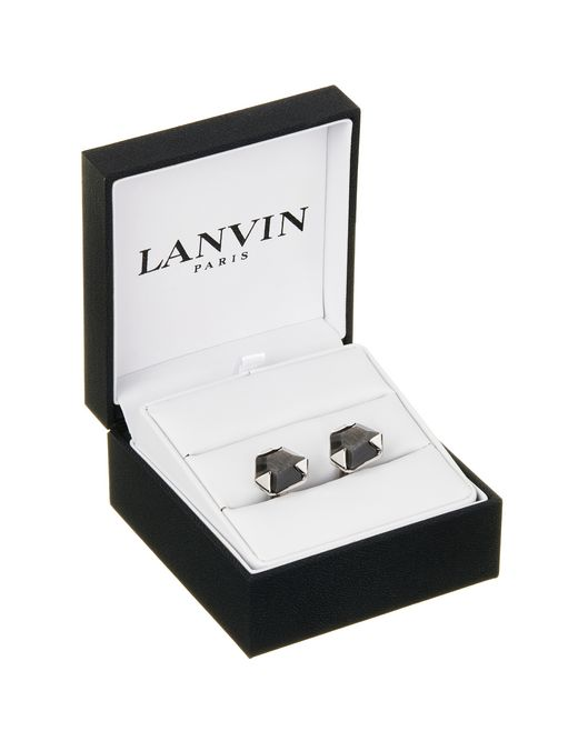 lanvin cuff links with faceted obsidian  men
