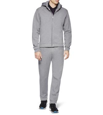 ZZEGNA: Pantalones De Felpa Gris - 53000535AB