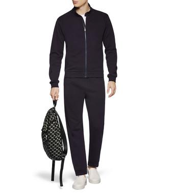 ZZEGNA: Pantaloni Felpa Blu - 53000536RI