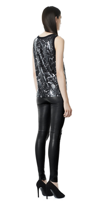 Balenciaga Pantalon Slim Cuir Stretch