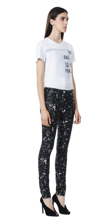 Balenciaga Marble Gant zip Pants