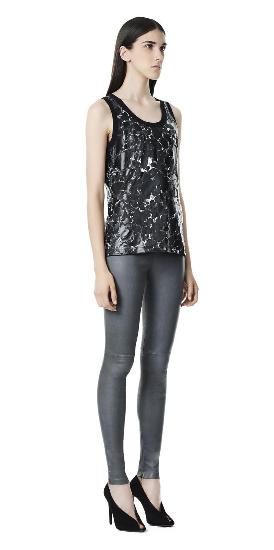 Balenciaga Slim Stretch Leather Pants