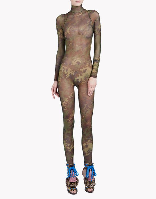 camouflage tattoo jumpsuit underwear Woman Dsquared2