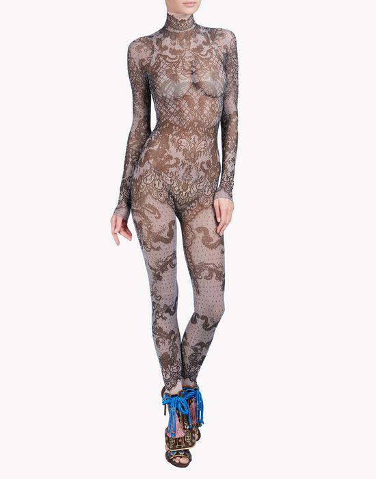 lace tattoo jumpsuit underwear Woman Dsquared2