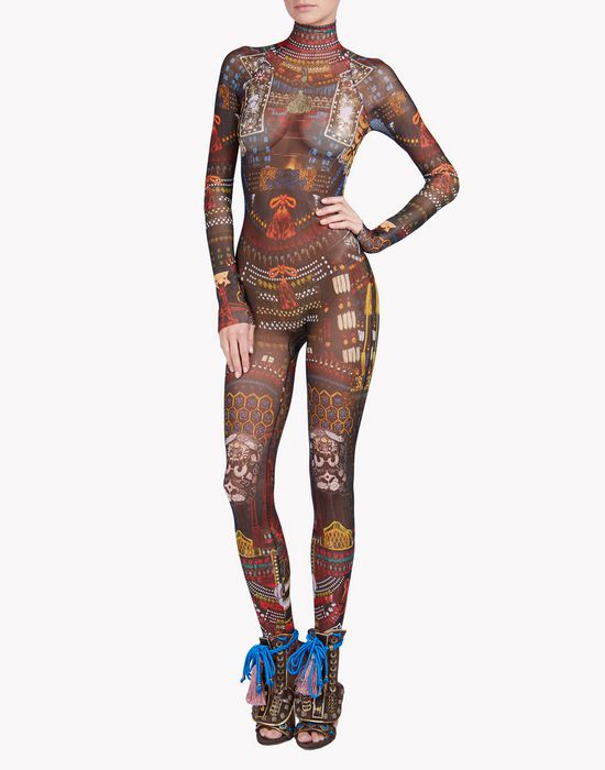 samurai tattoo jumpsuit ropa interior Mujer Dsquared2