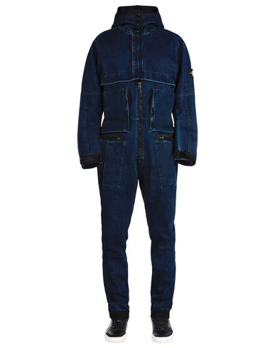 STONE ISLAND Trouser dungaree F0134 POLYPROPYLENE DENIM