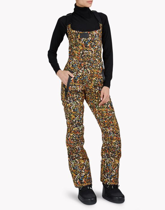 d2 ski floral overalls dungarees Woman Dsquared2
