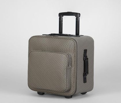 Trolley or carry-on luggageTravelLeatherGrey Bottega Veneta