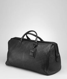 Holiday or weekend bagTravelLeatherBlack Bottega Veneta