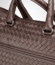 BOTTEGA VENETA - Briefcases, Moro Intrecciato Light Calf Briefcase