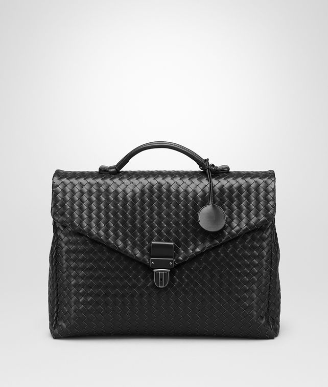 BOTTEGA VENETA SMALL BRIEFCASE IN NERO INTRECCIATO VN Business bag U fp