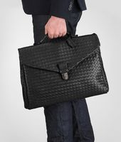 SMALL BRIEFCASE IN NERO INTRECCIATO VN