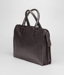 BOTTEGA VENETA - Briefcases, Ebano Intrecciato VN Briefcase