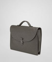 BOTTEGA VENETA - Briefcases, Shadow Intrecciato Light Calf Briefcase