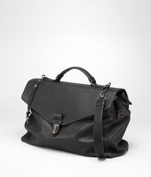 BOTTEGA VENETA - Briefcases, Nero Washed Vintage Calf Briefcase