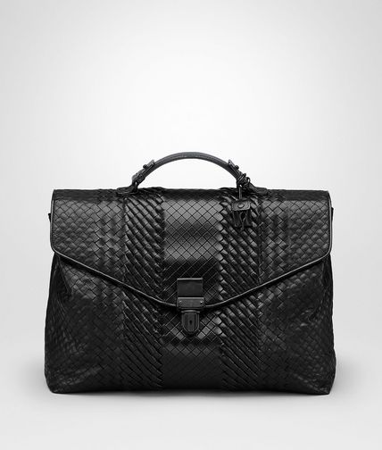 BRIEFCASE IN NERO INTRECCIO IMPERATORE