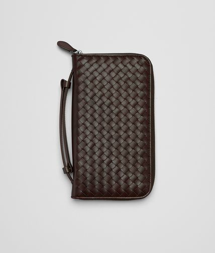 BOTTEGA VENETA - Ebano Intrecciato Vn Document Case