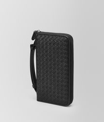 BOTTEGA VENETA - Travel Accessories, Nero Intrecciato Vn Document Case