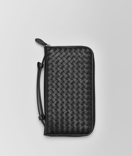 BOTTEGA VENETA - Nero Intrecciato Vn Document Case