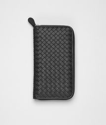 BOTTEGA VENETA - Travel Accessories, Nero Intrecciato Nappa Document Case