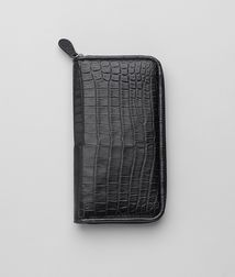 BOTTEGA VENETA - Travel Accessories, Nero Soft Crocodile Document Case