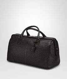 BOTTEGA VENETA - Holiday and weekend bags, Nero Intrecciato VN Medium Duffel