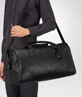 MEDIUM DUFFEL BAG IN NERO INTRECCIATO VN