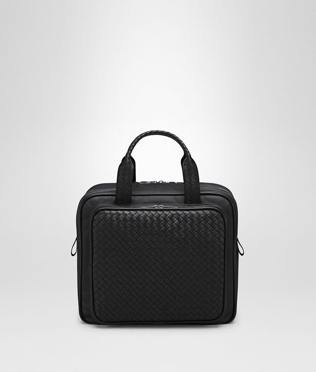 BOTTEGA VENETA BRIEFCASE IN NERO INTRECCIATO VN Trolley and Carry-on bag E fp