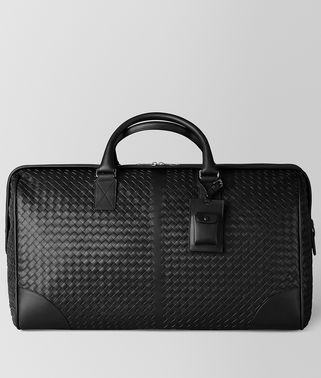 LARGE DUFFEL BAG IN NERO INTRECCIATO VN