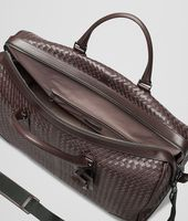 Große Reisetasche aus VN-Leder Intrecciato Ebano