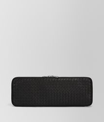 BOTTEGA VENETA - Travel Accessories, Nero Intrecciato VN Tie Case