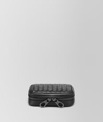 BOTTEGA VENETA - Travel Accessories, Nero Intrecciato VN Cufflink Case