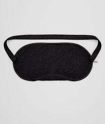 BOTTEGA VENETA - Travel Accessories, Nero Intrecciato Nappa Eye Mask