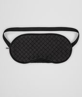 EYE MASK IN NERO INTRECCIATO NAPPA