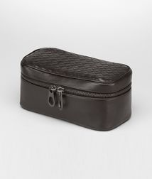 BOTTEGA VENETA - Travel Accessories, Ebano Intrecciato VN Watch Case