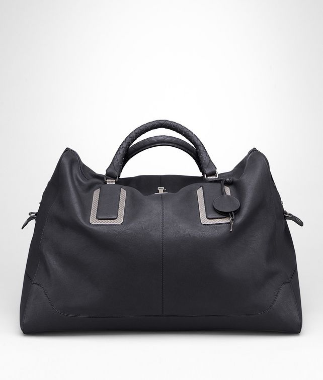 Ardoise Buffalo Leather Metal Duffel