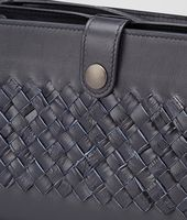 Tourmaline Light Calf Soft Crocodile Fume Document Case