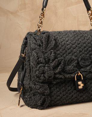 WOOL CROCHET FLOWER DOLCE BAG - Medium fabric bags - Dolce&Gabbana ...