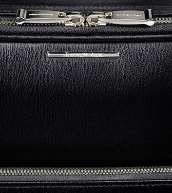 ERMENEGILDO ZEGNA: Wheeled luggage Maroon - Blue - Steel grey - 55009877NV