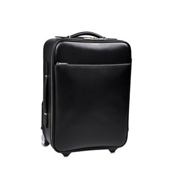 ERMENEGILDO ZEGNA: Wheeled luggage Black - 55009877NV