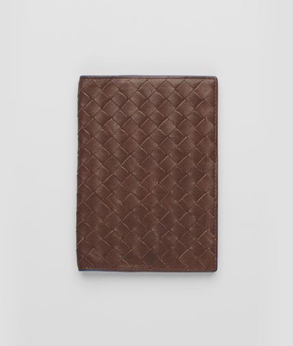 BOTTEGA VENETA - Edoardo Électrique Intrecciato Washed Vintage Passport Case