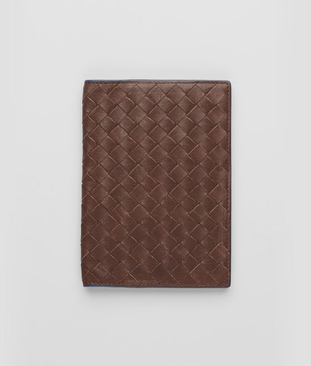 Edoardo Électrique Intrecciato Washed Vintage Passport Case