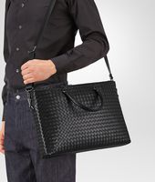 Nero Intrecciato Light Calf Briefcase